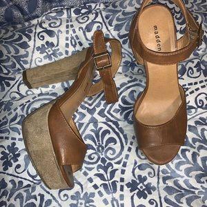 Shoes - Madden Girl Heeled Platform Sandal Sz 8